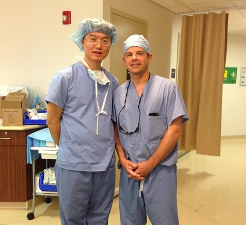 A new group of Chinese surgeons recently came to observe Dr. McLaughlin's shoulder surgeries. Here is what Dr Wang had to say. I am Dr. Wang from Guang Zhou Red Cross Hospital, China, who observed your surgeries  last week. It was a great opportunity for me to learn a lot from you, and I was impressed by your skillful surgical techniques.